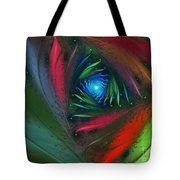 Hidden Jungle Plant-abstract Fractal Art Tote Bag