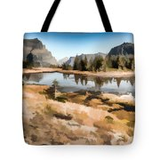 Hidden Lake Trail Glacier National Park Tote Bag