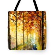 Hidden Path - Palette Knife Oil Painting On Canvas By Leonid Afremov Tote Bag
