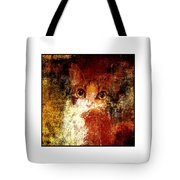 Hidden Square White Frame Tote Bag by Andee Design