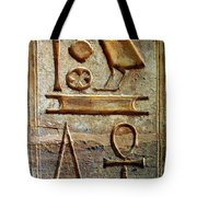 Hieroglyphics At Amada Tote Bag