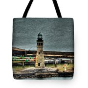 High Above The Lighthouse  Tote Bag