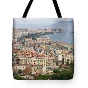 High Angle View Of A City, Naples Tote Bag