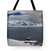 High Angle View Of A Harbor, Neko Tote Bag