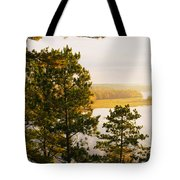 High Angle View Of A River, Ausable Tote Bag