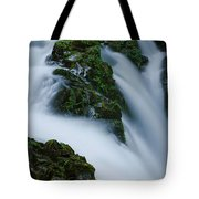 High Angle View Of A Waterfall, Sol Duc Tote Bag
