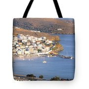 High Angle View Of Buildings Tote Bag