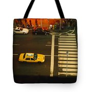 High Angle View Of Cars At A Zebra Tote Bag