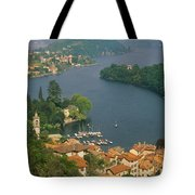High Angle View Of Houses Tote Bag