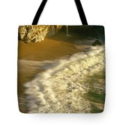 High Angle View Of Waterfall Tote Bag