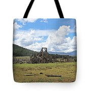 High Country Roundup The Old Days Tote Bag