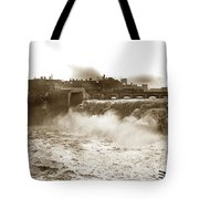 High Falls On The Genesee River Rochester New York At Flood Stage Circa 1904 Tote Bag