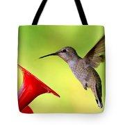 High Flying Hummingbird Tote Bag