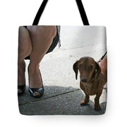 High Heels And A Dachsund Tote Bag