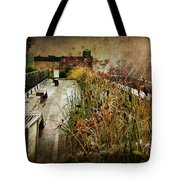 High Line Park In The Rain New York Tote Bag