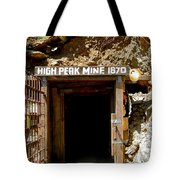 High Peak Mine Tote Bag by Denise Mazzocco