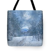 High Peak Mountain Snow Tote Bag