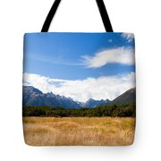 High Peaks Of Eglinton Valley In Fjordland Np Nz Tote Bag