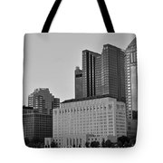 Columbus Close Up Black And White Tote Bag
