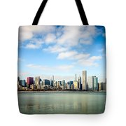 High Resolution Large Photo Of Chicago Skyline Tote Bag