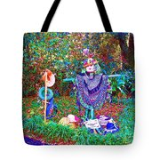 High Satch Scarecrow In A Hat Tote Bag