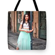 High School Senior Portrait French Quarter New Orleans Tote Bag