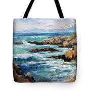 High Surf Asilomar Beach Tote Bag