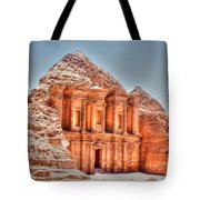 High Temple At Petra Tote Bag by David Birchall