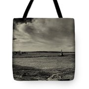 High Tide Of The Confederacy Black And White Tote Bag