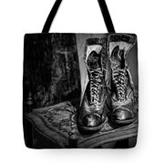 High Top Shoes - Bw Tote Bag