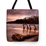 High Water On The Wolf River Tote Bag