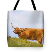 Highland Cow Watercolour Tote Bag