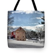 Highland Farms In The Snow Tote Bag