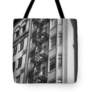 Highrise Fire Escape Bw Tote Bag