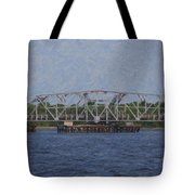 Highway 41 Swing Bridge Over The Wando River Tote Bag