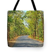 Highway In The Forest Tote Bag