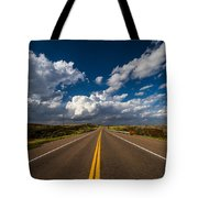 Highway Life - Blue Sky Down The Road In Oklahoma Tote Bag