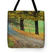 Highway Passing Through A Landscape Tote Bag