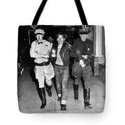Highway Patrolmen And Police Officer Hollister July 7 1947 Tote Bag