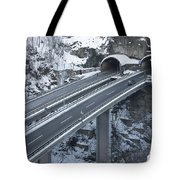 Higway Tunnel With A Bridge Tote Bag