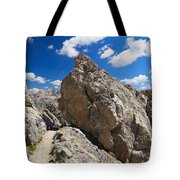 hike in Dolomites Tote Bag