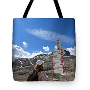 Hiker Find The Way Tote Bag