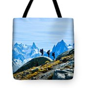 Hiking Above Chamonix On The Lac Blanc Trail Tote Bag