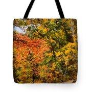 Hiking In Autumn Tote Bag
