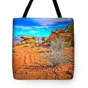 Hiking In Canyonlands Tote Bag