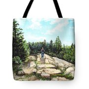 Hiking In Maine Tote Bag