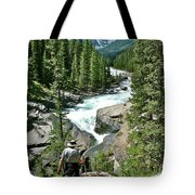 Hiking In Mistaya Canyon Along Icefield Parkway In Alberta Tote Bag