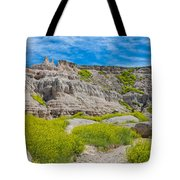 Hiking In The Badlands Tote Bag