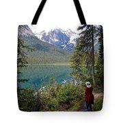 Hiking On Emerald Lake Trail In Yoho Np-bc Tote Bag