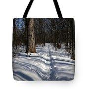 Hiking Trail Shadows Tote Bag